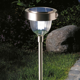 Intelligent Solar Lamp State-of-the-art LED technology with 2 light intensities, built-in motion and dusk to dawn sensor.