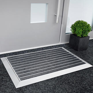 Premium Aluminium Doormat Unrelenting even against heavy dirt. A purchase for decades.