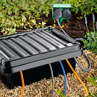 DRi®BOX The safest place outdoors for your portable multi-socket extension lead. Safe, dry & free of dust.
