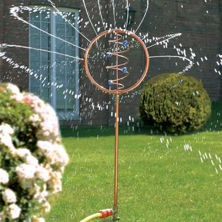 Blue Swirl Water Sprinkler A delightful decoration to water your thirsty garden.