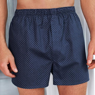 Sunspel Speckled Boxer Shorts Comfy, long lasting and made of the finest cotton weave since 1947. With the typical panel seat.