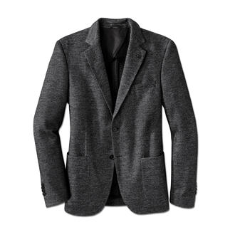 Lagerfeld Jersey Blazer Salt & Pepper design in pure new wool: Lagerfeld gives casual jersey a classic look.