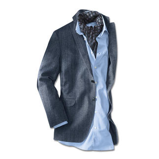 Pima Cotton Jacket As elegant as the finest cloth. But lighter and more breathable. Woven by Ormezzano.