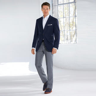 Hiltl Micro Jacquard Trousers Unusual micro Jacquard – woven, not printed. By Marzotto, Italy's premier weaver. Tradition since 1836.