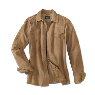 Climate Comfort Leather Jacket The leather jacket for summer – as light and airy as a shirt. Only weighs 23oz. In delicate goat suede.