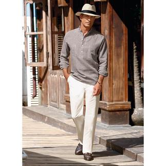 Nehru Shirt, Linen Hollington's original stand-up collar shirt.