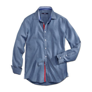Ingram Denim-Look Shirt The gentleman's denim shirt. Impeccable with casual as well as business outfits.