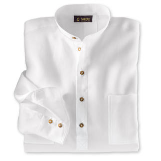 Nehru Shirt, Linen Hollington's original stand-up collar shirt.