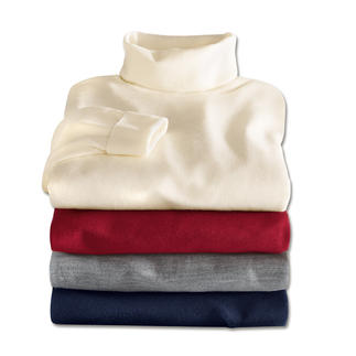 John Smedley Polo Neck or V-Neck Pullover This pullover made from fine Merino wool by John Smedley weighs less than 10.6oz. Fits any briefcase.