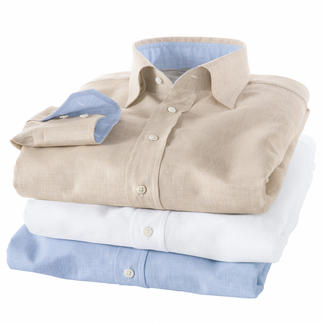 Albini Linen Shirt The linen shirt by Albini – the fabric specialist. Yarn-dyed and chambray-woven. Colourfast and keep their shape.