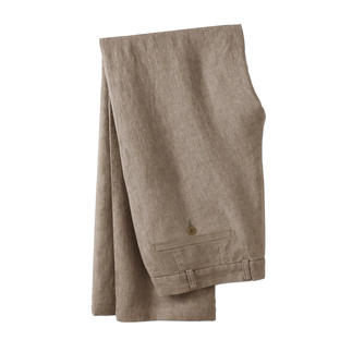 Ormezzano Linen Trousers, Taupe Ormezzano in Italy weaves cool linen that is suitable even for formal business trousers.