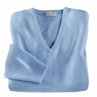3-Ply-Cashmere Polo Neck Pullover and V-Neck First-rate and rare: 3-ply cashmere from Inner Mongolia.
