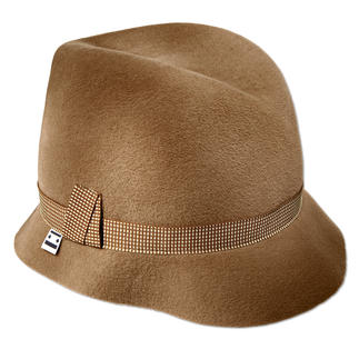 Ellen Paulssen Ladies Trilby, Camel The famous Trilby hat of the 60s – the ladies fashion accessory for 2015.