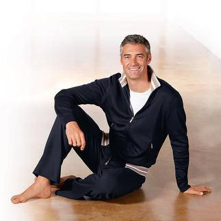Pima-Cotton Gents Loungewear, navy Cuddly soft, super comfy – and still smart.