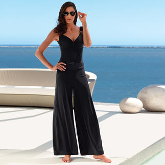 """Je suis """"Elégance"""" Marlene Trousers or Swimsuit From the sun deck to the cocktail bar. This swimsuit ensemble by je suis is as elegant as an LBD."""