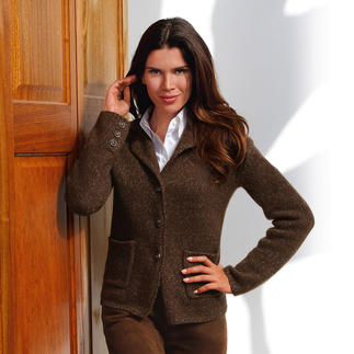 Carbery Knit Blazer, Brown As comfortable as a cardigan – as proper as a blazer.