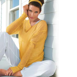 Cobweb Pullover, Mustard Rare cobweb knit. Airy and still a fully fashioned knit.