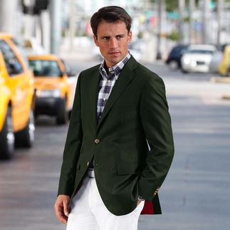 Wool-Linen Sports Jacket Striking, but not too flamboyant. Light and airy, but smart and crease-resistant.