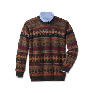 "Alpaca Pullover ""PACHA"" Extravagant, hand-knitted jacquard pullover. An original from the Andes. Will not pill."