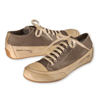 Candice Cooper Leather Plimsoles, Taupe The elegant Italian trainers modelled after the very first plimsoles. In glove-soft kidskin.