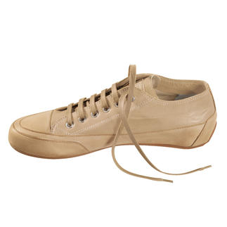 Candice Cooper Leather Plimsoles, Ecru The classy Italian plimsole inspired by the first original trainers.