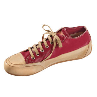 Candice Cooper Leather Plimsoles, Red The classy Italian plimsole inspired by the first original trainers.