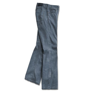 Linen Stretch Jeans Finally: A light pair of linen trousers with the firm fit of a pair of jeans.They are opaque and hardly crease