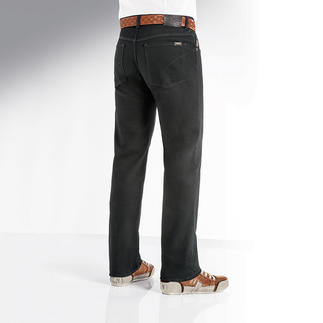 Brax Perma-Black Jeans Finally a truly colourfast pair of jeans. Black stays black. Wash after wash.