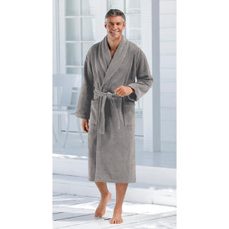 Carl Ross Hot Wash Bathrobe Far more stylish. Far more absorbent. And far more sanitary.