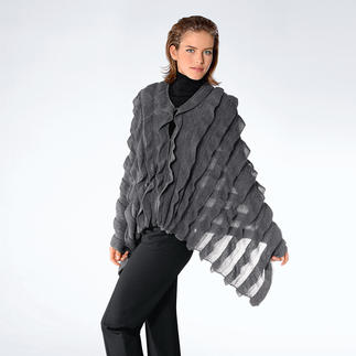 Baby Alpaca Frilled Shawl An elegant shawl. An extravagant cape. By Carbery, Ireland's distinguished knitter with a rich tradition.