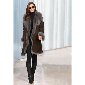 Toscana Lambskin Coat More valuable the lighter it is. This short coat made from silky soft Toscana lamb only weighs 56 ounces.