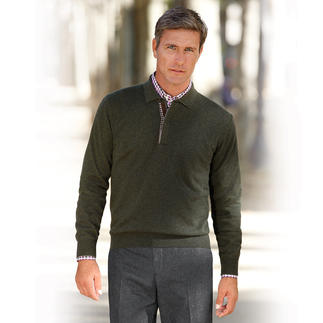 """Ferrante Polo Jumper """"Extra Fine Merino"""" Softer. Lighter. Warmer. And far more interesting than most polo jumpers."""