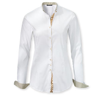 White Artful Shirts The indispensable basic white blouses – but with clever new details. By Sans Fixe Dimore, Italy.