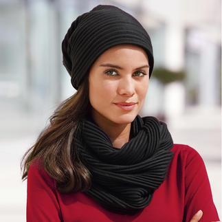 "Pleated Fleece Beanie or Loop Scarf Award-winning Swedish design: ""Pleece"". Exceptionally elegant, soft and warm."