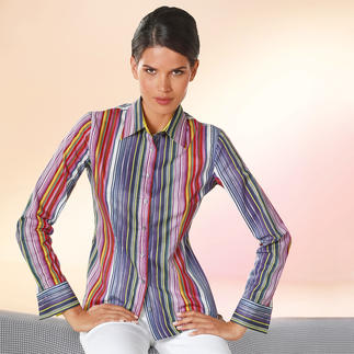 van Laack Artist Stripes Blouse A rare blouse for all occasions: Great with any colour – and still not too colourful.