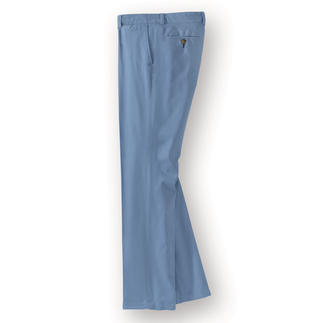 Pima Cotton Chinos, Light Blue Rare pima cotton. Perfect fit. Fabulous price. Luxuriously comfy chinos. By the trouser specialist Dimensione.