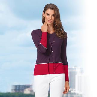 "Smedley ""Colour Blocking"" Twin Set Pure luxury in precious Sea Island cotton. Trendy colours, trendy Colour Blocking."