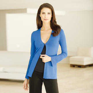Panicale Viscose Fine-Knit Cardigan Exceptionally fine knit and delicate lacy decor. Yet extremely hardwearing. Weighs just 8 oz.
