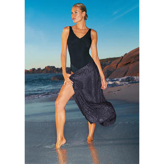 Black Swimsuit Fits perfectly and flatters your figure.