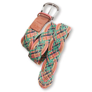 Nurage Plaiting Belt Seven fashionable colours. Rare, elaborate hand plaiting.