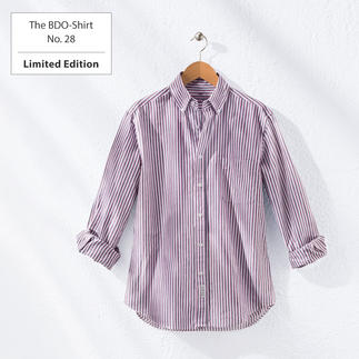 The BDO-Shirt No. 28, striped Meet a good old friend. And forget that shirts always need ironing.