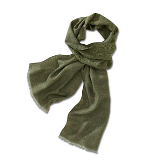 Ascot Double-Print Woollen Scarf Beautiful from both sides. And incredibly versatile.