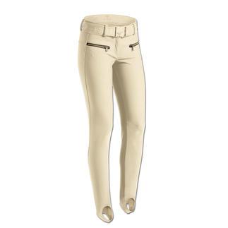 Goldbergh Softshell Ski Trousers with Stirrups Stylish sportswear or sporty street-wear? Both! Unusual slim-fit, softshell ski trousers and breeches.