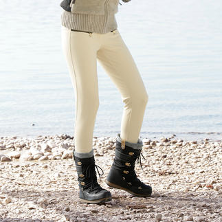 Goldbergh Softshell Ski Trousers with Stirrups Stylish sportswear or sporty street-wear? Both! Unusual slim-fit, softshell ski trousers and breeches.