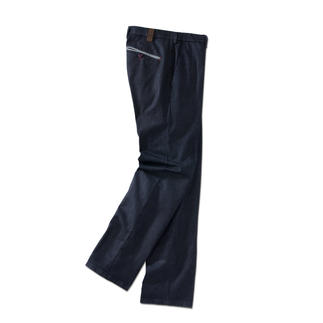 MMX Elegant Flat-Front Jeans Exclusive jeans for gentlemen. With the look of cloth trousers. But made of sturdy, fuss-free denim.
