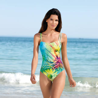 "SunSelect® Swimsuit ""Flower Meadow"" This swimsuit has the same effect as a good sun cream. Made from sun permeable SunSelect® fabric."