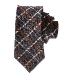 Laco check woollen tie Rarely is a checked tie this stylish and understated.