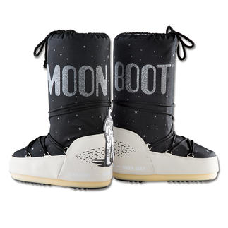 "Moon Boot®s ""Space"" Unmistakably characteristic shape. Iconic print."