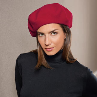 Laulhère Beret, Women Handcrafted from pure merino wool.