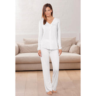 MicroModal® Couture Pyjamas Night time couture chic. Pyjamas made from silky soft and durably beautiful MicroModal®.